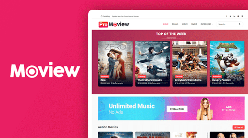 Moview blogger template free download