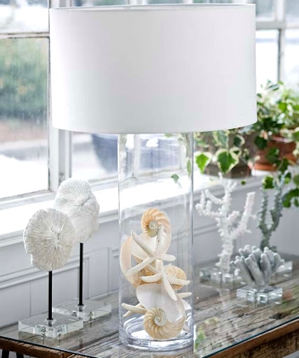 coastal glass lamp