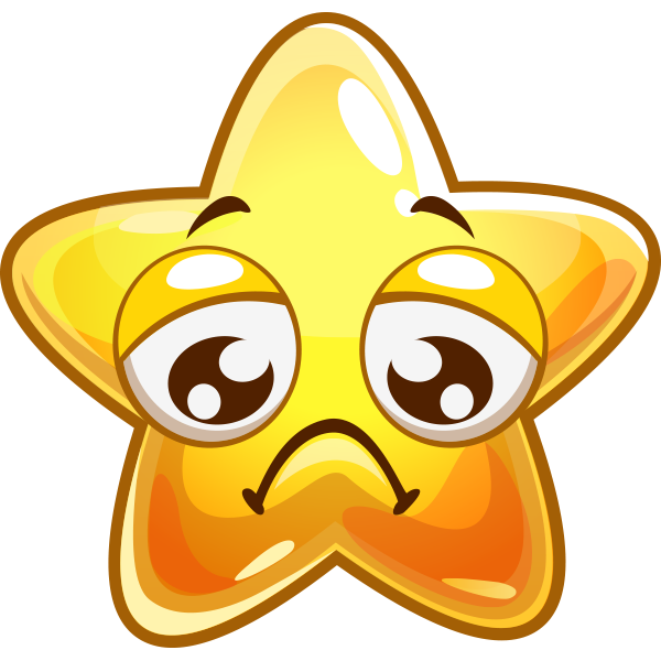 Frowny Star Icon