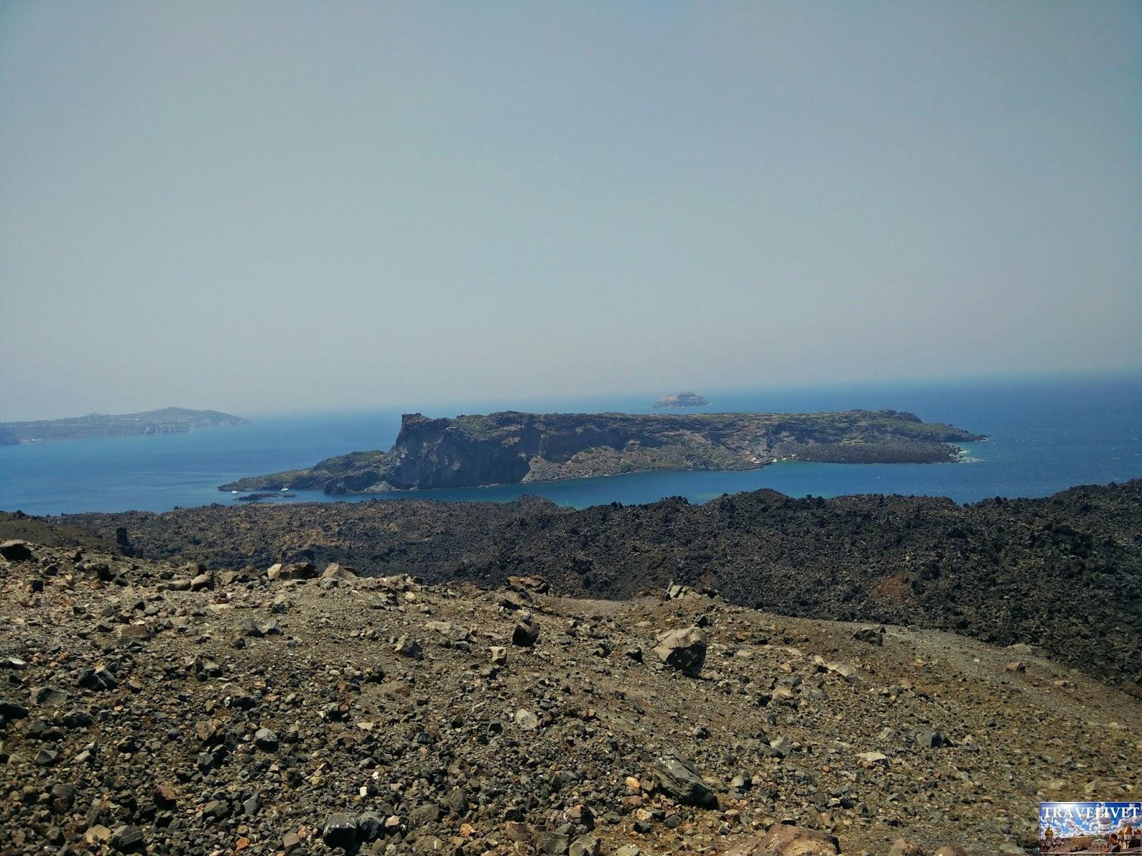 Grèce Santorin Santorini cratère volcan