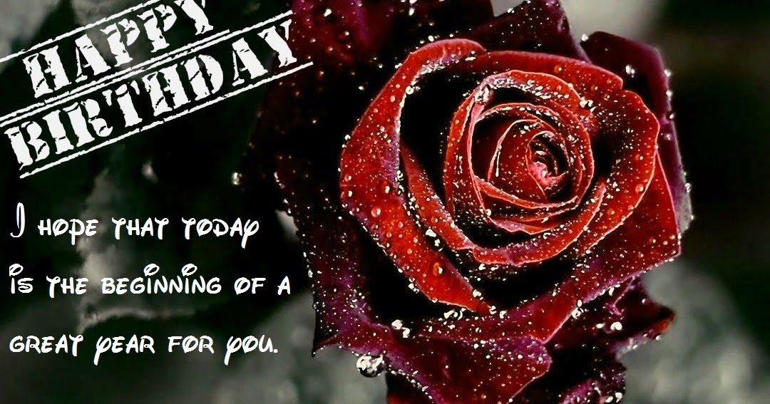 Red Rose Graphics Birthday Wishes Messages Photo S