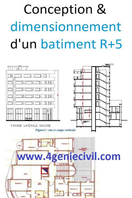 Rapport de stage ingénieur EHTP : Dimensionnement d'un bâtiment R+5