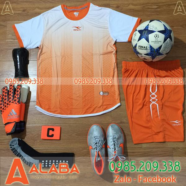 Áo bóng đá không logo màu cam bán chạy