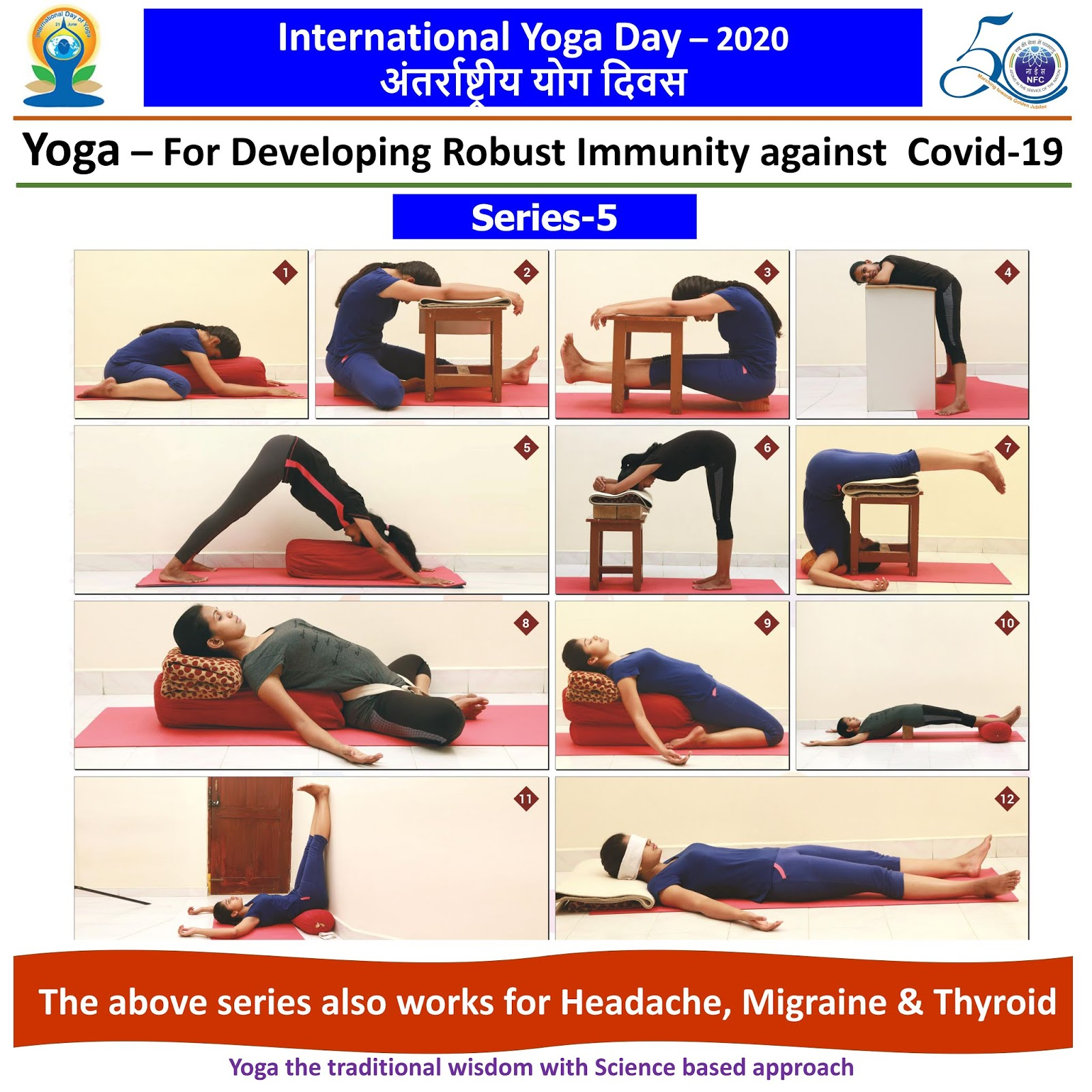 Happy International Yoga Day ... This series also works for Headache, Migraine & Thyroid