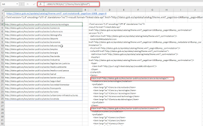 Funciones Web: SERVICIOWEB, XMLFILTRO y URLCODIF
