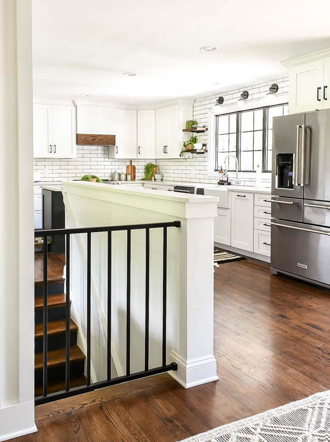open kitchen in a rancher style home