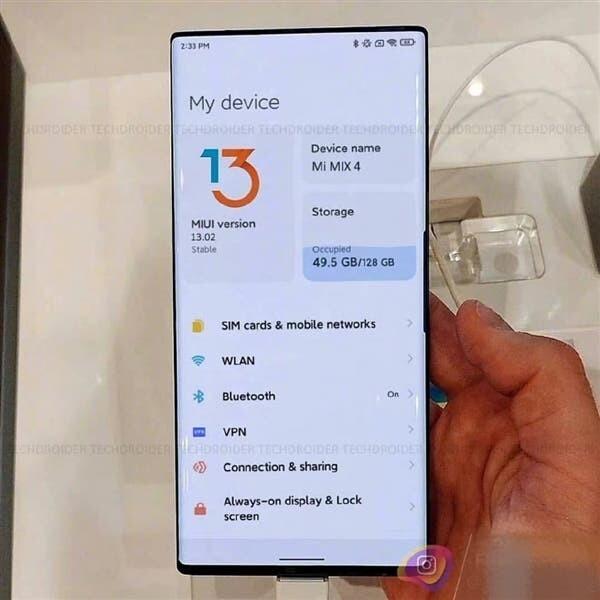 Xiaomi Mi MIX 4 se filtra la primera imagen