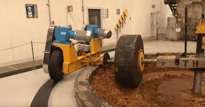 Roda usada pra extração do suco de agave