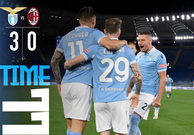 Serie A, la Lazio stende il Milan. L'Atalanta resta al secondo posto