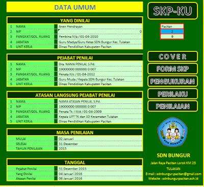 Download Aplikasi SKP-Ku Microsoft Excel 2016 - Galeri Guru
