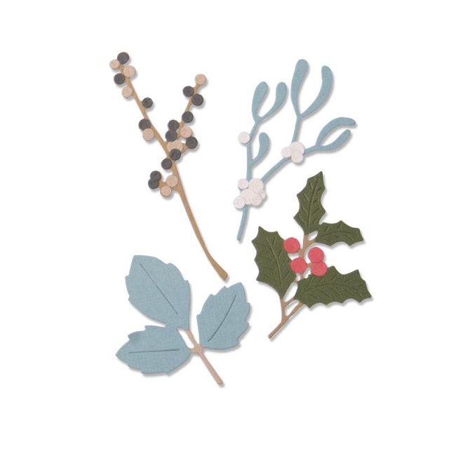 Sizzix Thinlits Die Set 5PK - Winter Leaves (663425)