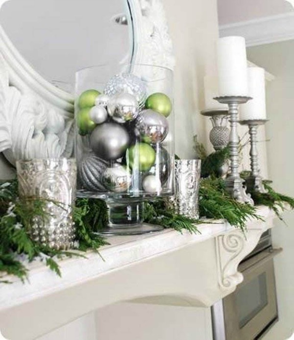 holidays decorating the mantel for christmas walking on