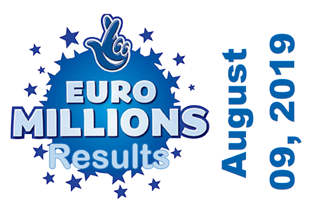 EuroMillions Results for Friday, August 09, 2019