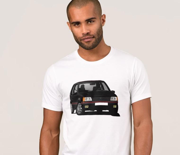 Fabulous Peugeot 205 GTi in black tshirts