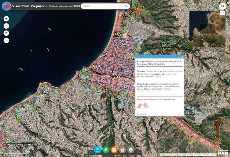 Mapa interactivo advierte riesgos de desastre en todo Chile