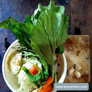 Bahan untuk sayur sop