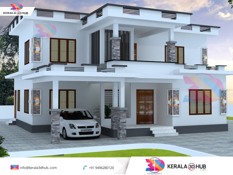 simple home elevation design 4K Pictures