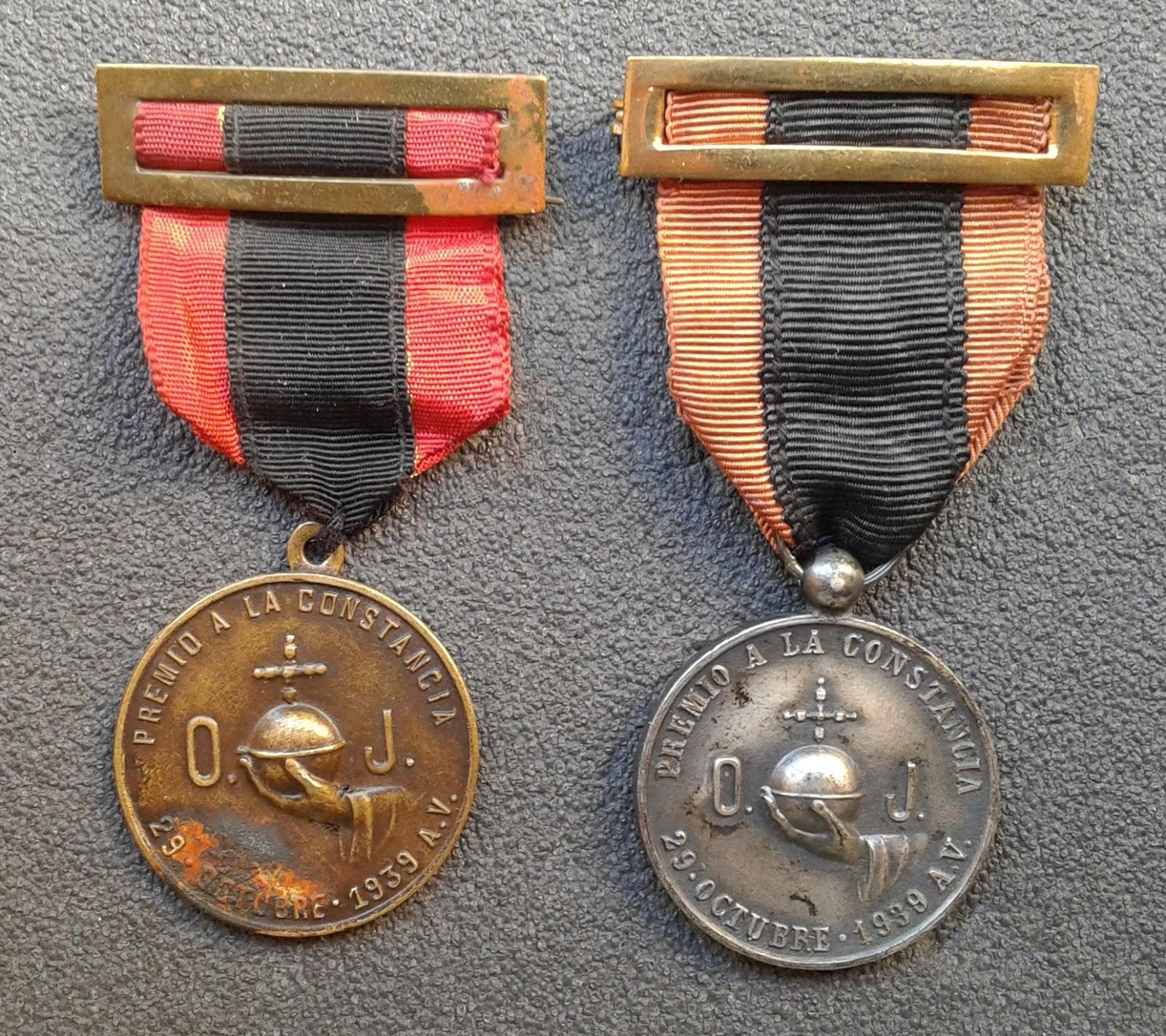 O. J. PREMIO A LA CONSTANCIA 29 DE OCTUBRE 1939 A.V. 20181001_121244