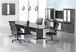 Sterling Conference Room Table and Storage Cabinet Wall