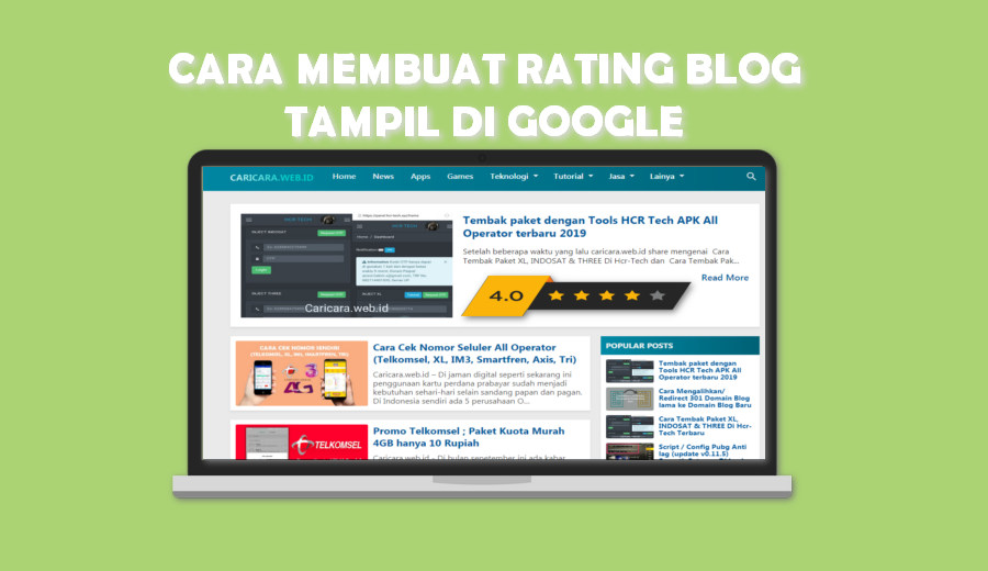 Cara membuat Rating Bintang Blog