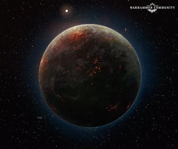 Caliban bajo un bombardeo orbital
