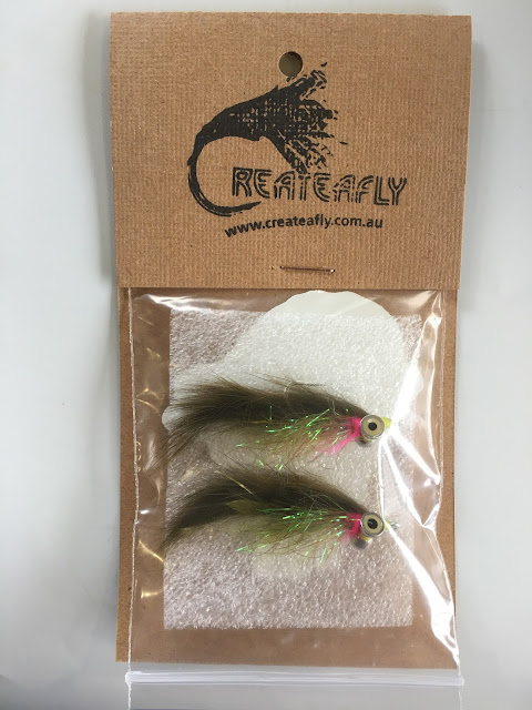Olive Flashbelly bunny pack of 2 flies