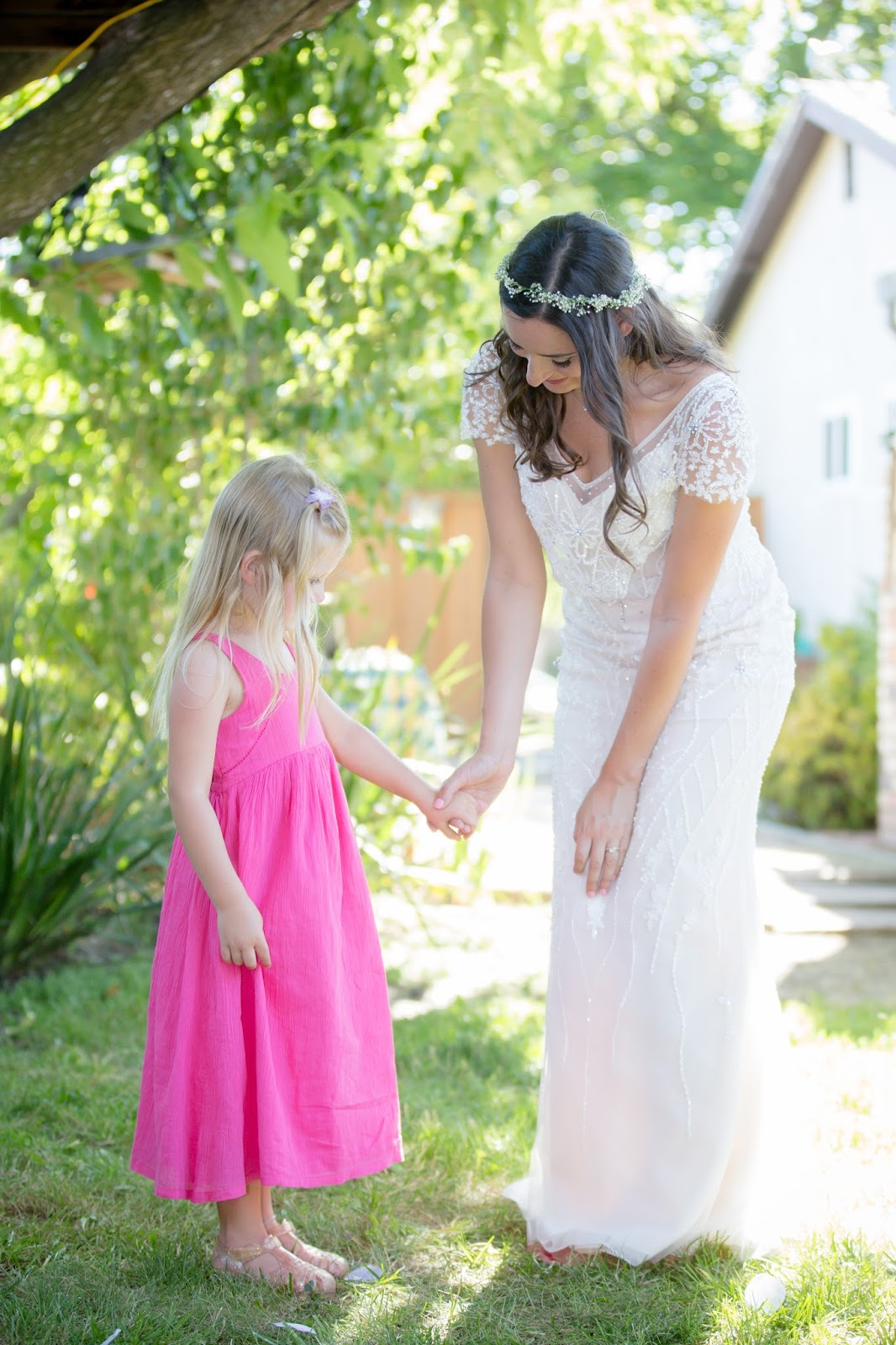 bride and niece