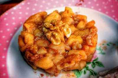 dadolata di mele cotte con cannella e noci