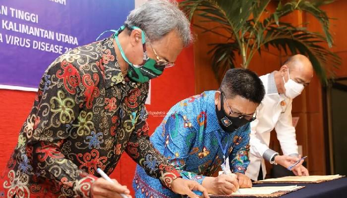 Gubernur Kaltara Teken PKS dengan Kejati Kaltim dan Nota Kesepakatan bersama BPKP Kaltara