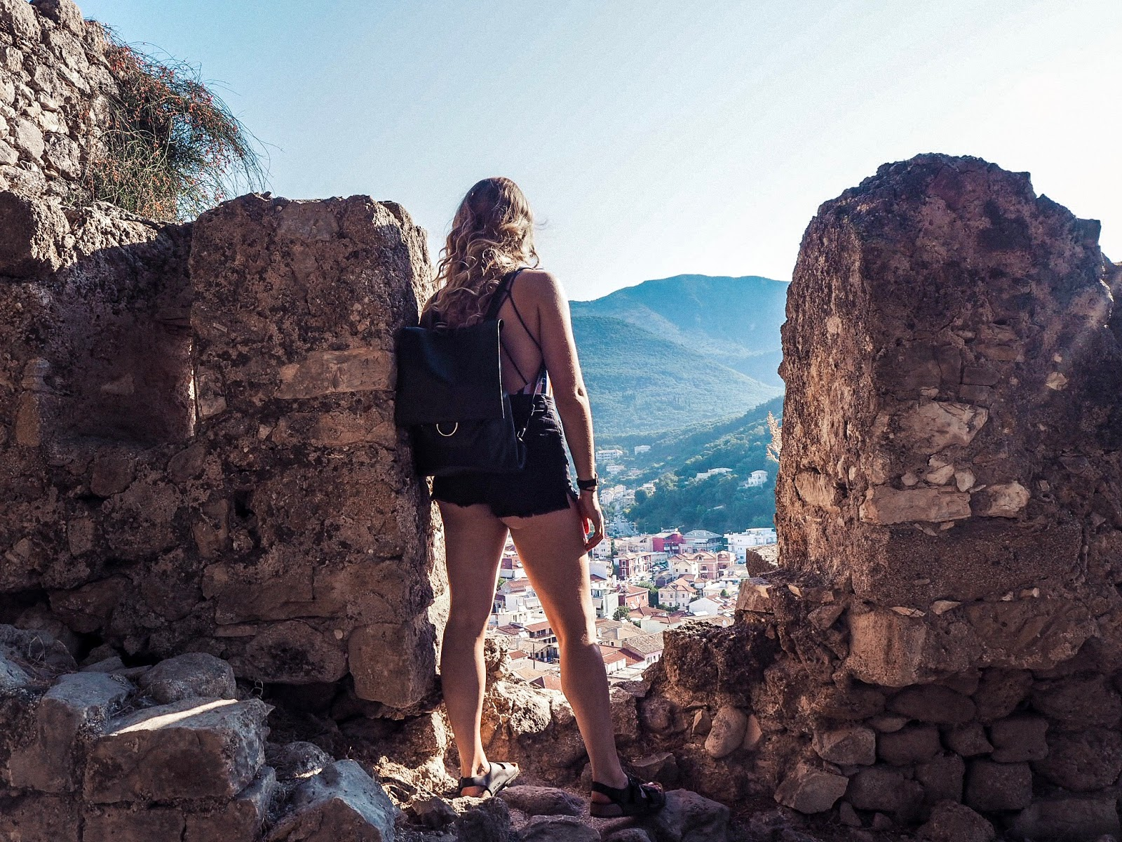 Girl at Parga Castle