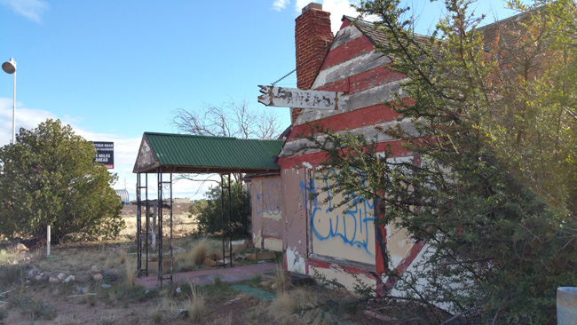 Christmas Tree Inn Abandoned Theme Park in Santa Claus Arizona