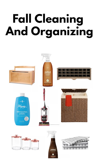 fall cleaning and organizing