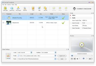 تنزيل برنامج تحويل الفيديو الى صوت Format Freedom