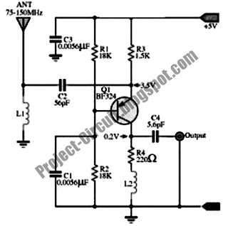 Free Project Circuit Diagram: Wide Band High Frequency