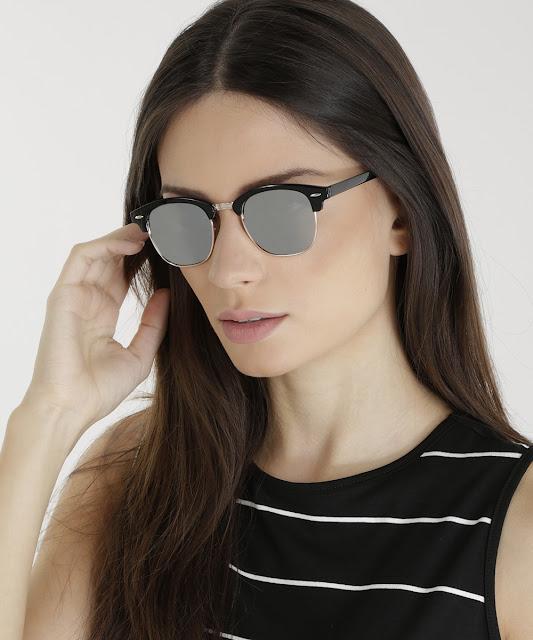óculos com formato redondo