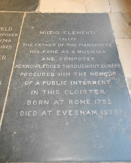 The tomb of Muzio Clementi can be  found in Westminster Abbey
