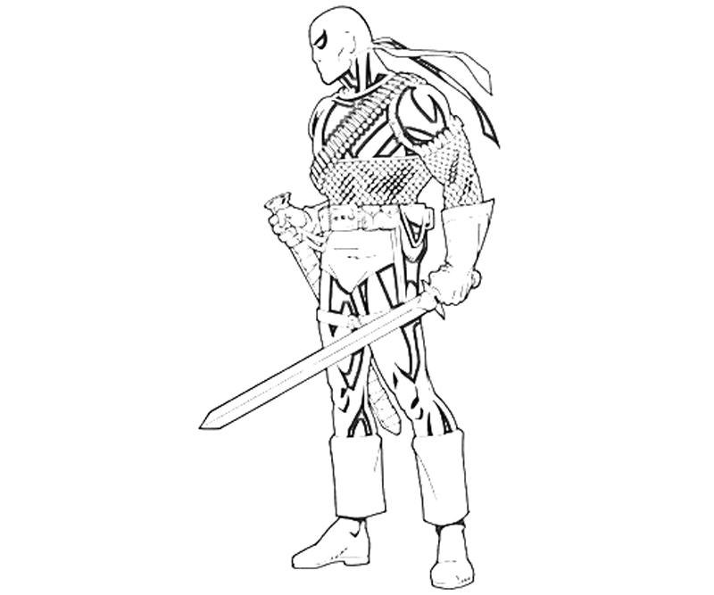 coloring pages of deathstroke costume   Deathstroke Coloring Pages Sketch Coloring Page