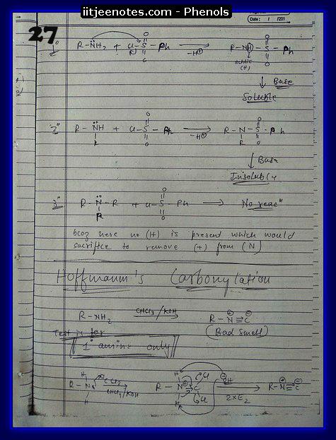 Phenol Notes 13