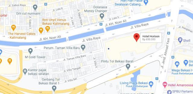 Map Letak Hotel Horison Bekasi