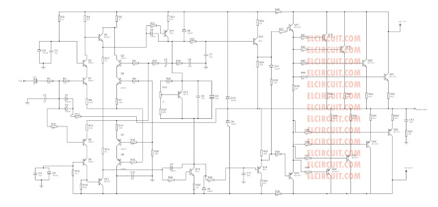 2800W High Power Amplifier Circuit [Updated!] - Electronic Circuit