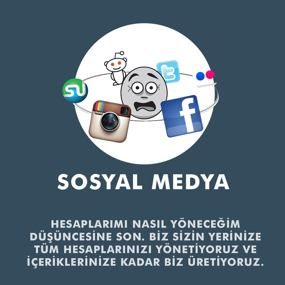 Instagram Yönetimi, Facebook Yönetimi, Twitter Yönetimi, Pinterest Yönetimi, LinkedIn Yönetimi, Reddit Yönetimi, Tumblr Yönetimi, Flickr Yönetimi, VK.com Yönetimi, Sosyal Medya Yönetimi ve Hesap Oluşturma, Sosyal Medya RSS Bağlama