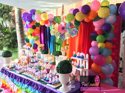 Unicorn Dessert buffet with Balloon garland