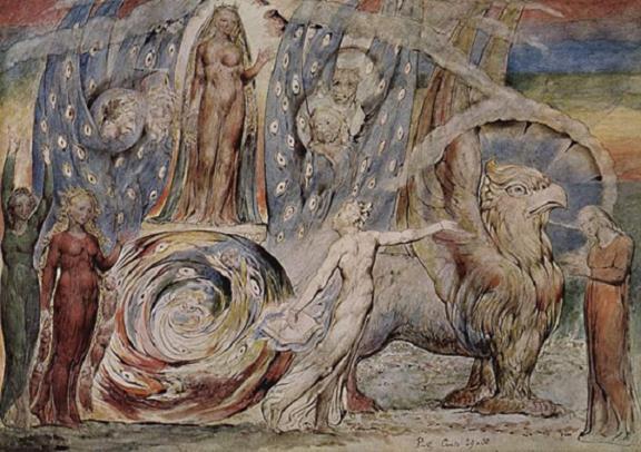 cuadro de William Blake El infierno de Dante