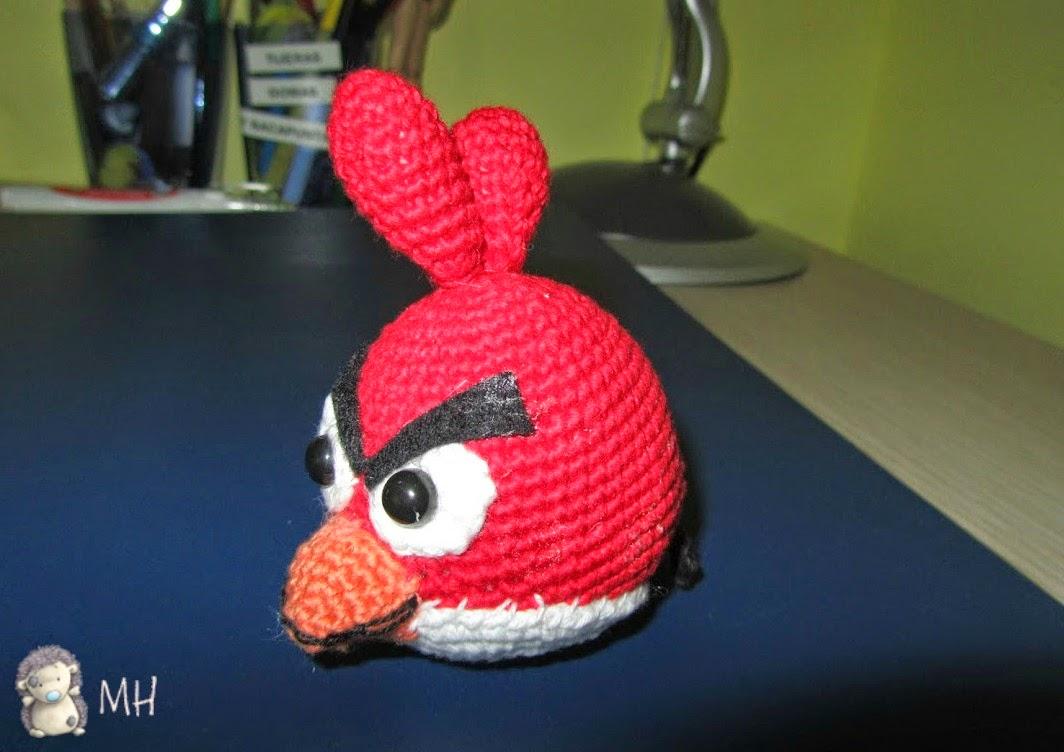 Amigurumi Angry Bird rojo