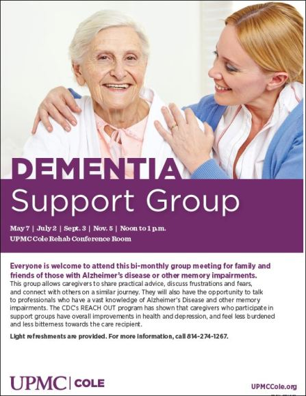 Bi- Monthly Dementia Support Group
