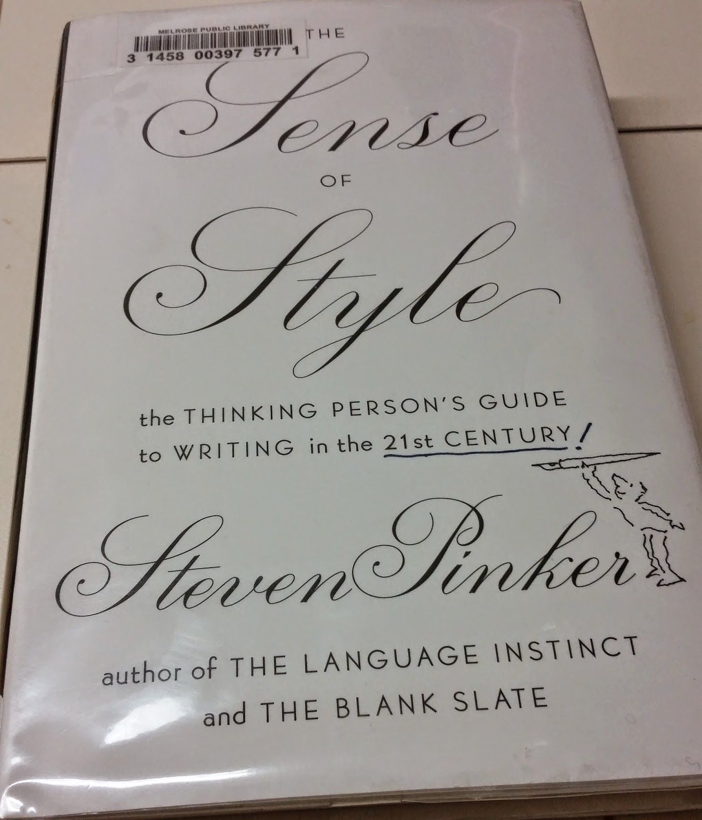 Steven Pinker - A Sense of Style Book Cover