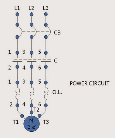wiring diagram of magnetic contactor canine eye right across the line starter motor control operation and circuits power circuit