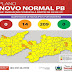 Bandeiras laranjas e amarelas voltam a predominar em 100% dos municípios paraibanos.