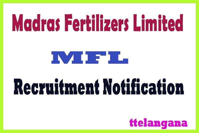 MFL Madras Fertilizers Limited Recruitment Notification Apply