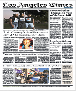 Los Angeles Times 29 December 2020